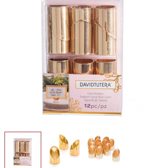 David Tutera Other - Gold David Tutera Card Place Holders 72 pcs